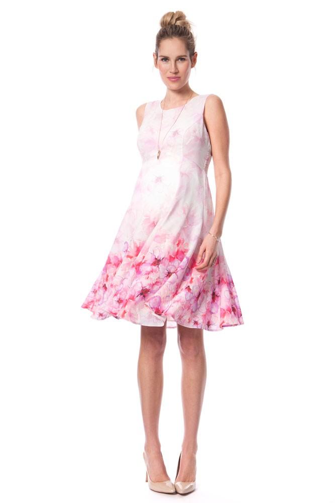 seraphine johana maternity dress in pink floral print
