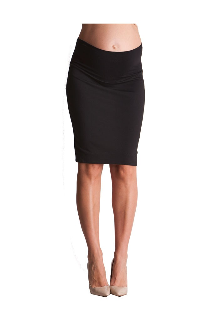 Seraphine Layne Pencil Maternity Skirt (Black)