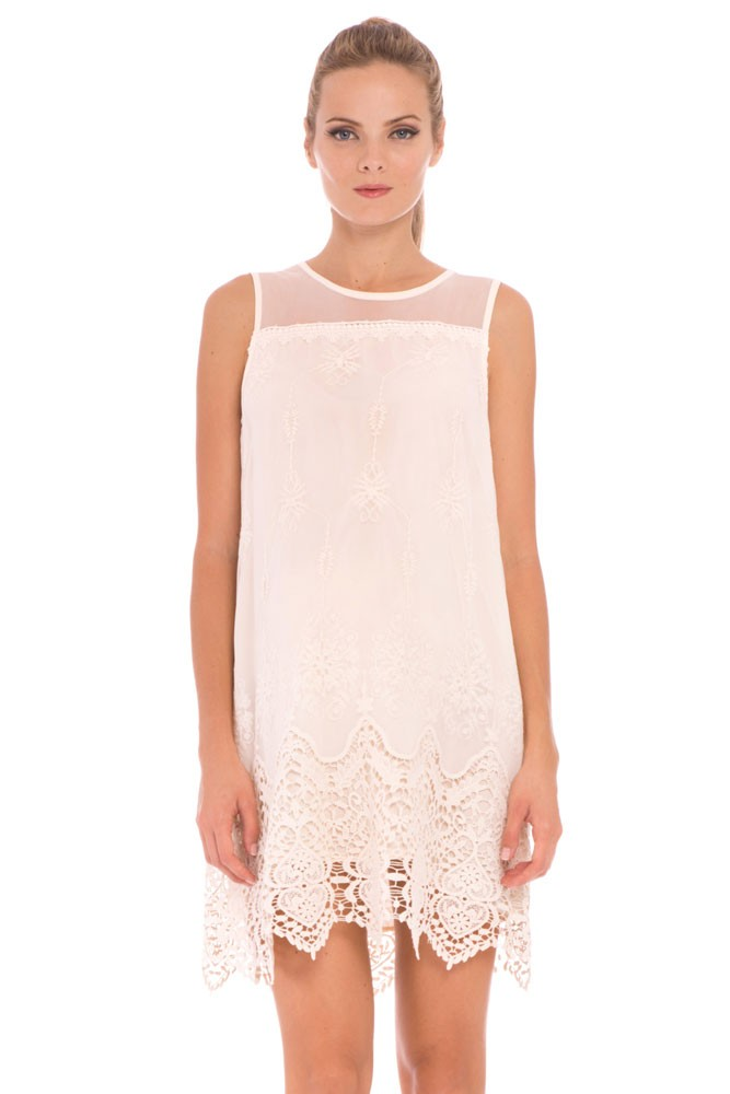Bianca Lace Maternity Dress (Ivory)