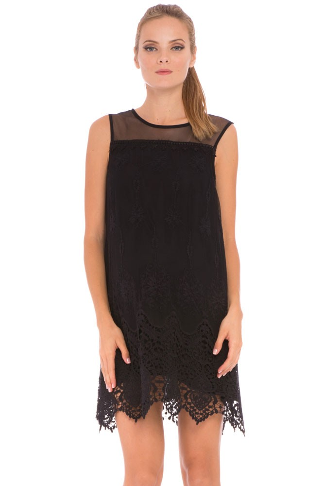 efd04ddfcfc Olian Bianca Lace Maternity Dress in Black