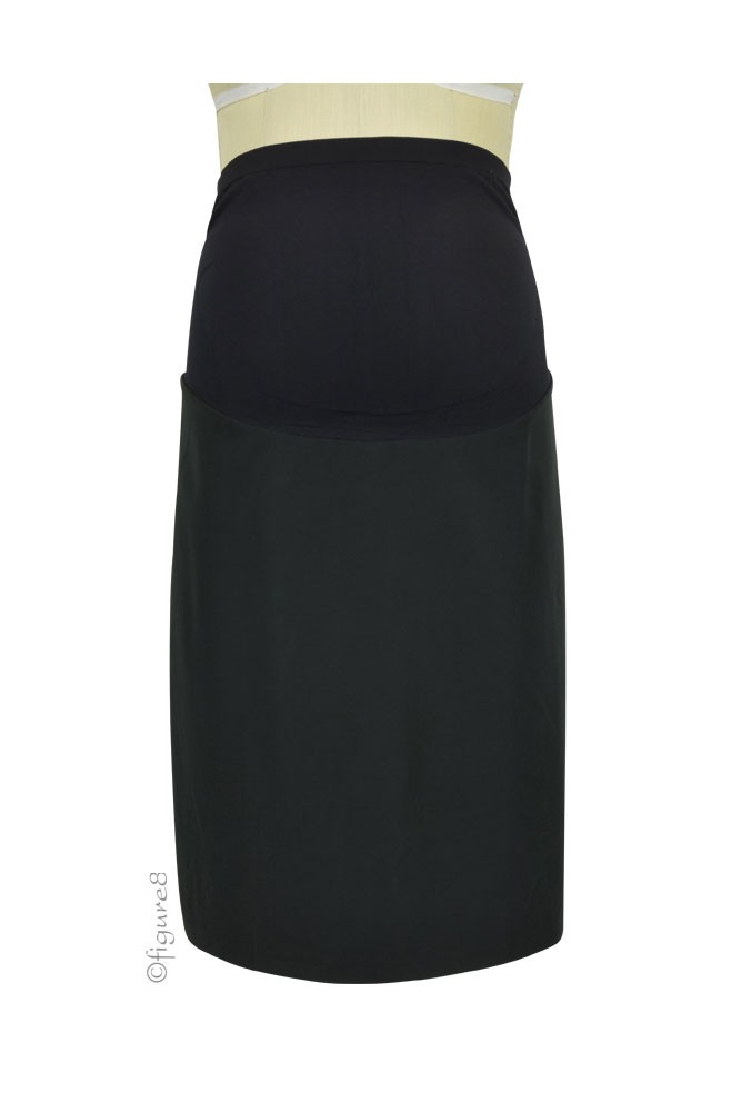 Florence A-Line, Lined Maternity Skirt (Black)