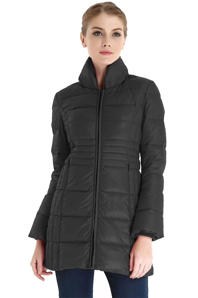 Bella 3-in-1 Down-Filled Mommy & Me Jacket by Spring Maternity (Black)