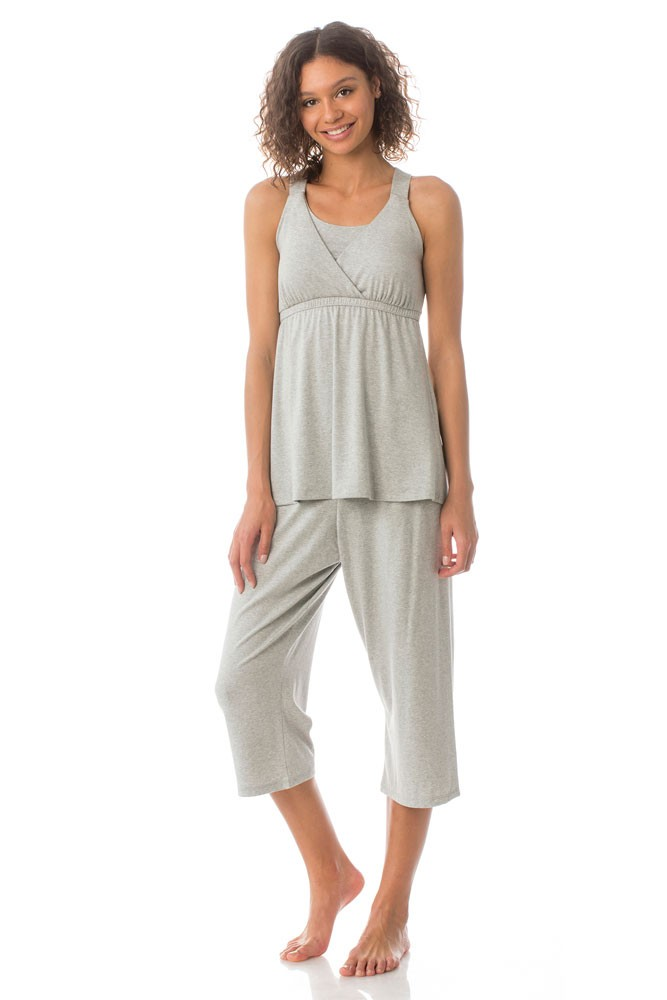 Majamas Kinzie Nursing PJ Set (Pebble)