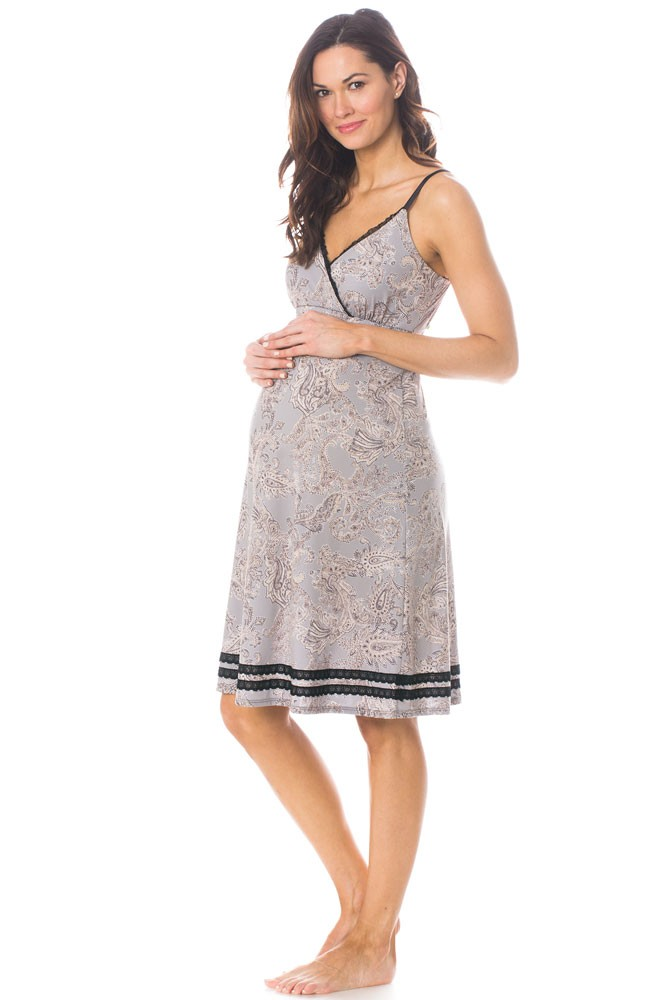 Majamas Madison Nursing Nightie (Maplewood)