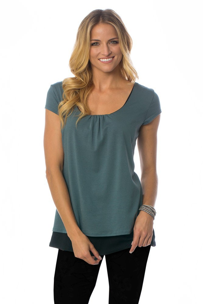 The Orchard Maternity & Nursing Top by Majamas (Aquatic)