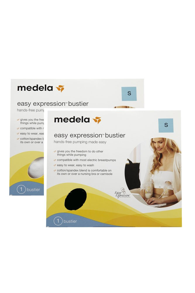 Medela Easy Expressions Bustier- 2-Pack (Black & White)