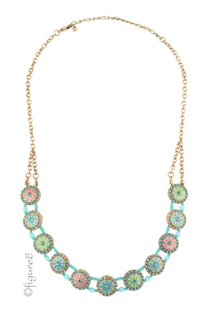 Turquoise Flower Necklace (Turquoise)