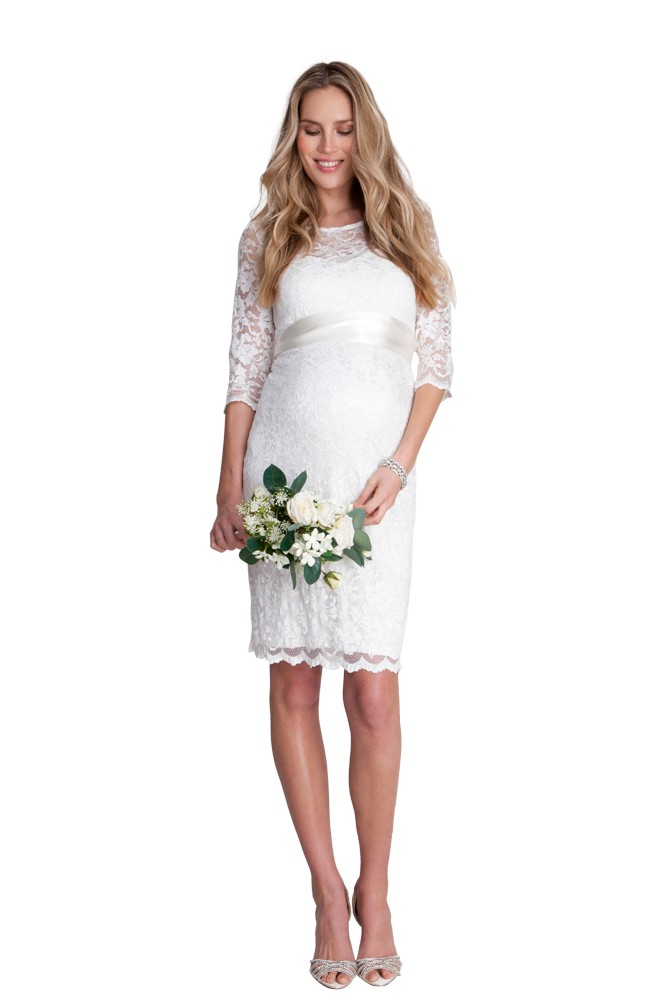 Seraphina Ivory Lace Luxe Maternity Dress (Ivory)