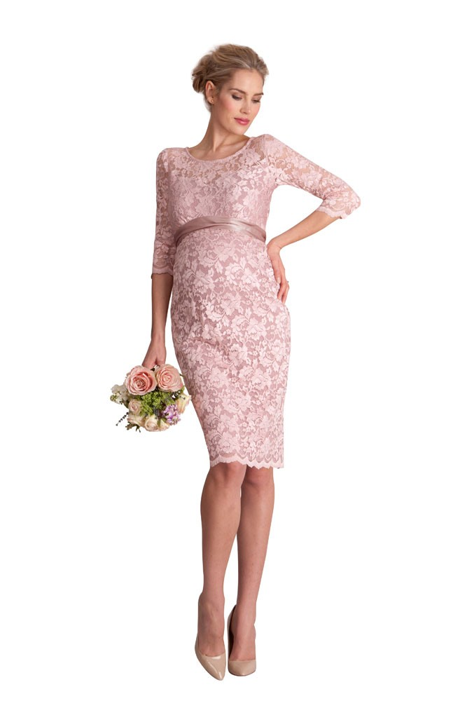 Seraphina lace luxe maternity dress in blush by seraphine for Postpartum dresses for wedding