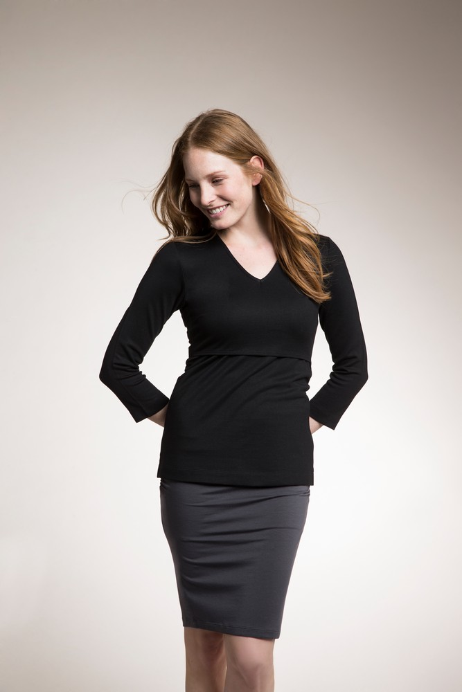 Boob Design Audrey Lightweight Maternity & Nursing Top (Black)