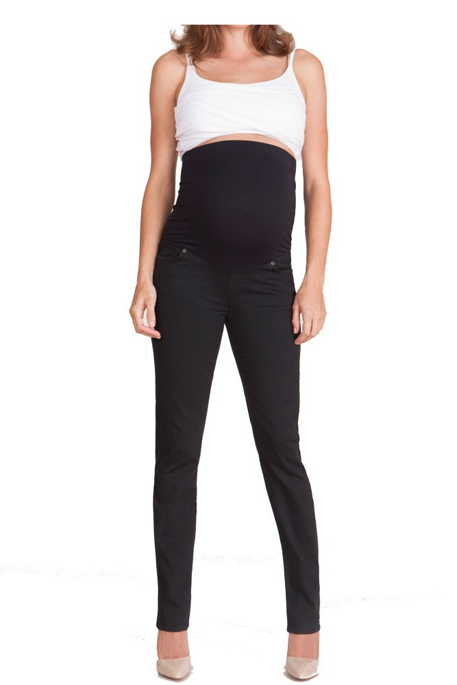 Seraphine Remy Super Skinny Overbump Maternity Jeans (Black)