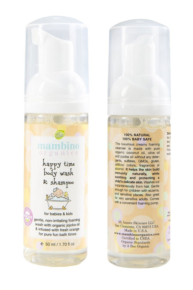 Mambino Organics Happy Time Baby-Kids Body Wash & Shampoo
