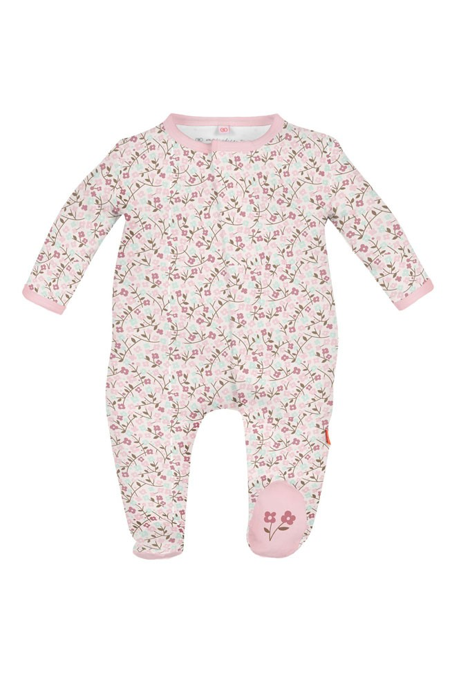 Magnificent Baby Magnetic Me™ Bedford Floral Baby Girl Footie (Bedford Floral Print)