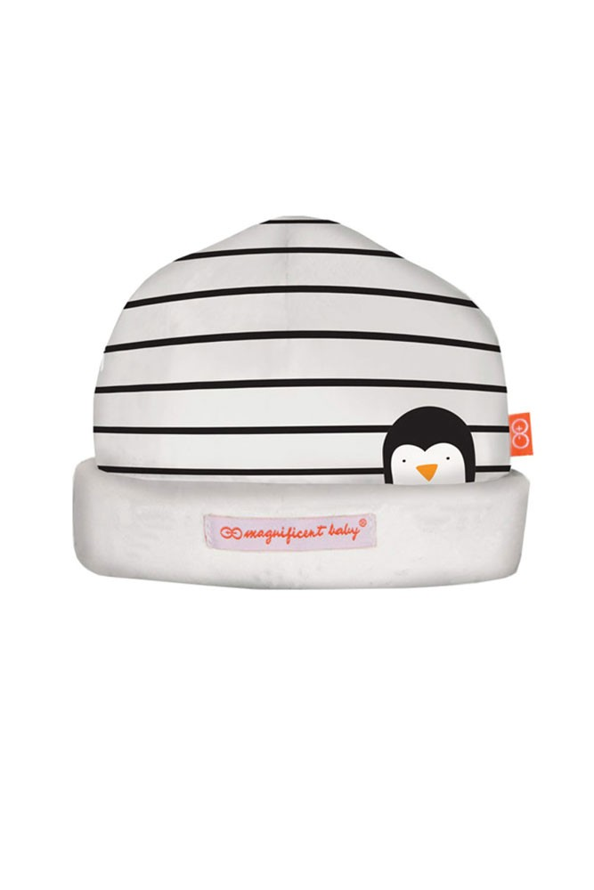 Magnificent Baby Magnetic Me™ Party Penguins Baby Hat (Penguin Stripes)