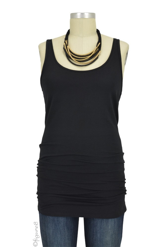 Must-Have Long Maternity Tank (Black)