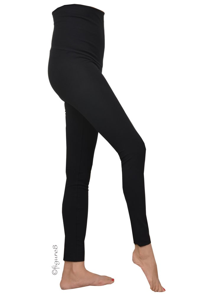 Must-Have Over-the-Belly Maternity Leggings (Black)
