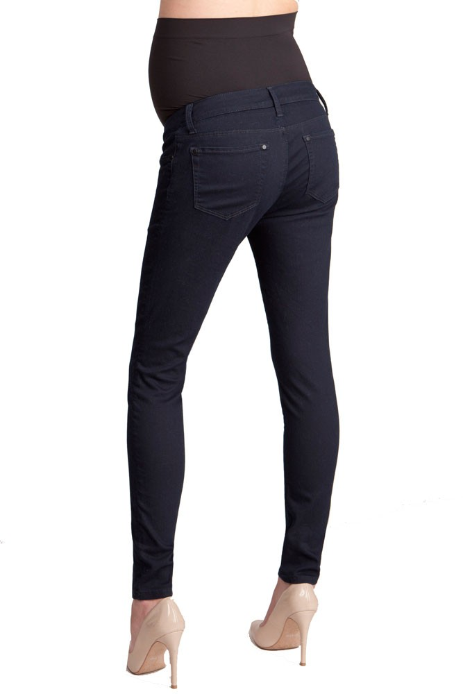 9b21a3559a3ee Seraphine Katie Skinny Over Bump Maternity Jeans in Indigo
