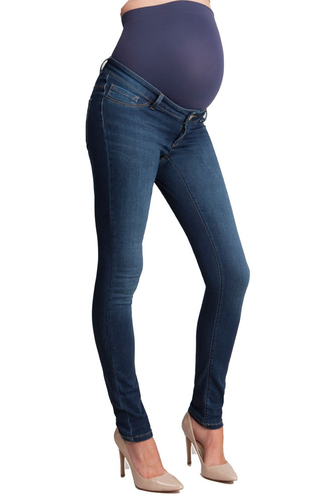 Seraphine Penny Slim Overbump Maternity Jeans (Blue Wash)