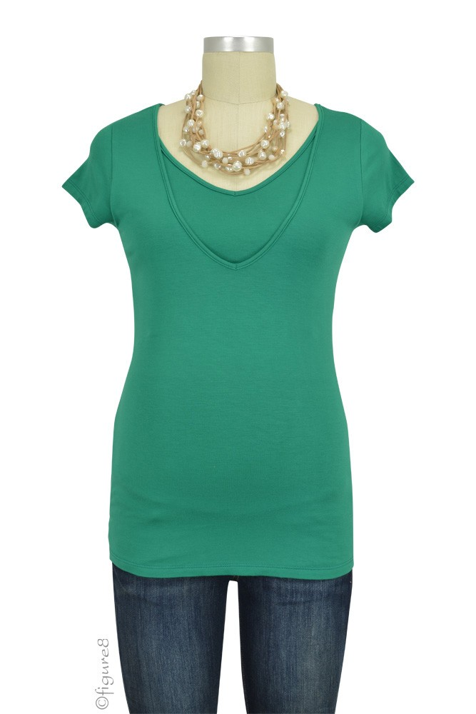 Lise V-Neck Nursing Top (Green)