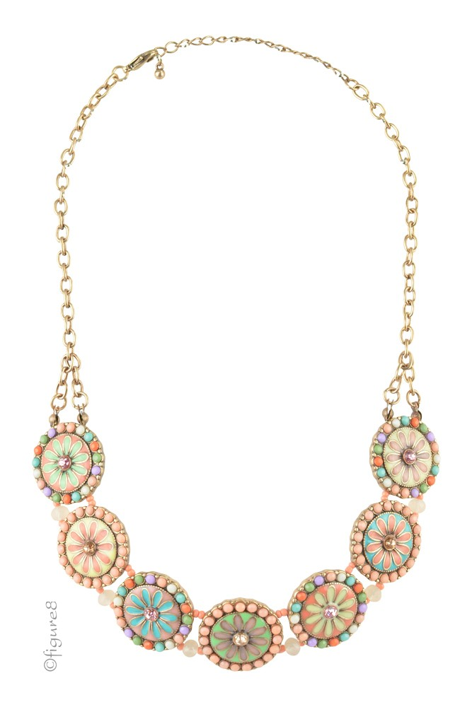 Flower Power Necklace (Pink/Multi-color)