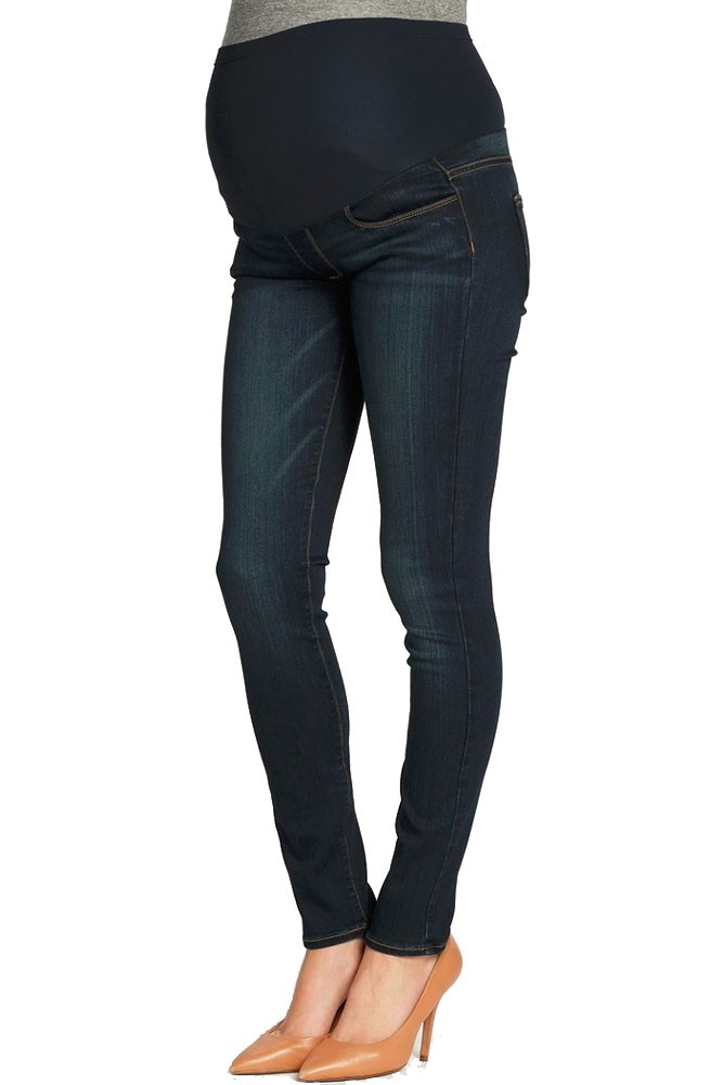 90d35bad68947 Paige Denim Verdugo Ankle Maternity Jeans w/ Belly Panel in Armstrong