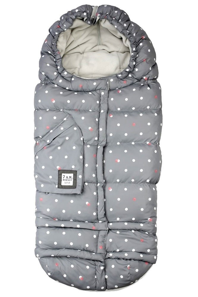 7 am Enfant Blanket 212 Evolution - Special Collection (Grey Dots Print)