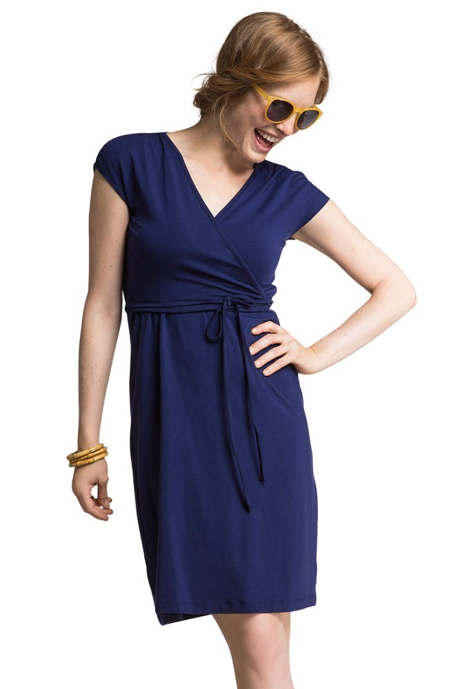 Boob Design Wrap Maternity & Nursing Dress (Cobalt)