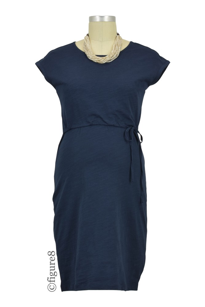 Boob Design Celia Organic Cotton Slub Maternity & Nursing Dress (Midnight Blue)