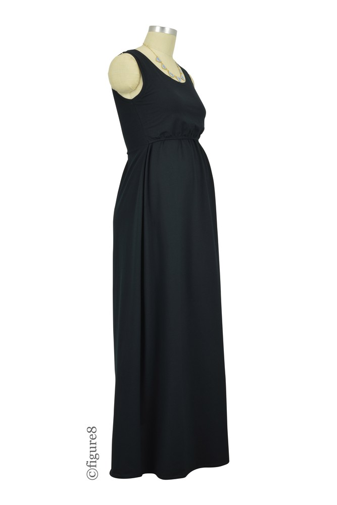 9adc230440 Avery Organic Cotton Maxi Nursing Dress in Black by Mothers en Vogue