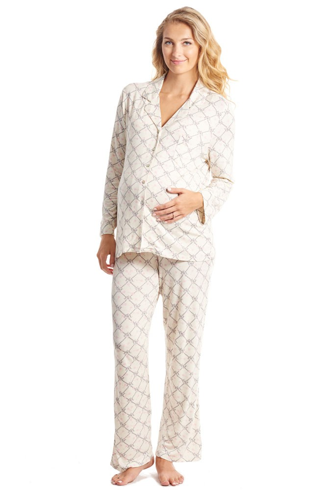 Helene 2-Pc Maternity & Nursing PJ Set (Duchess)