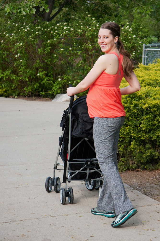 Flourish Maternity Workout Tank with Mumband Support (Coral)