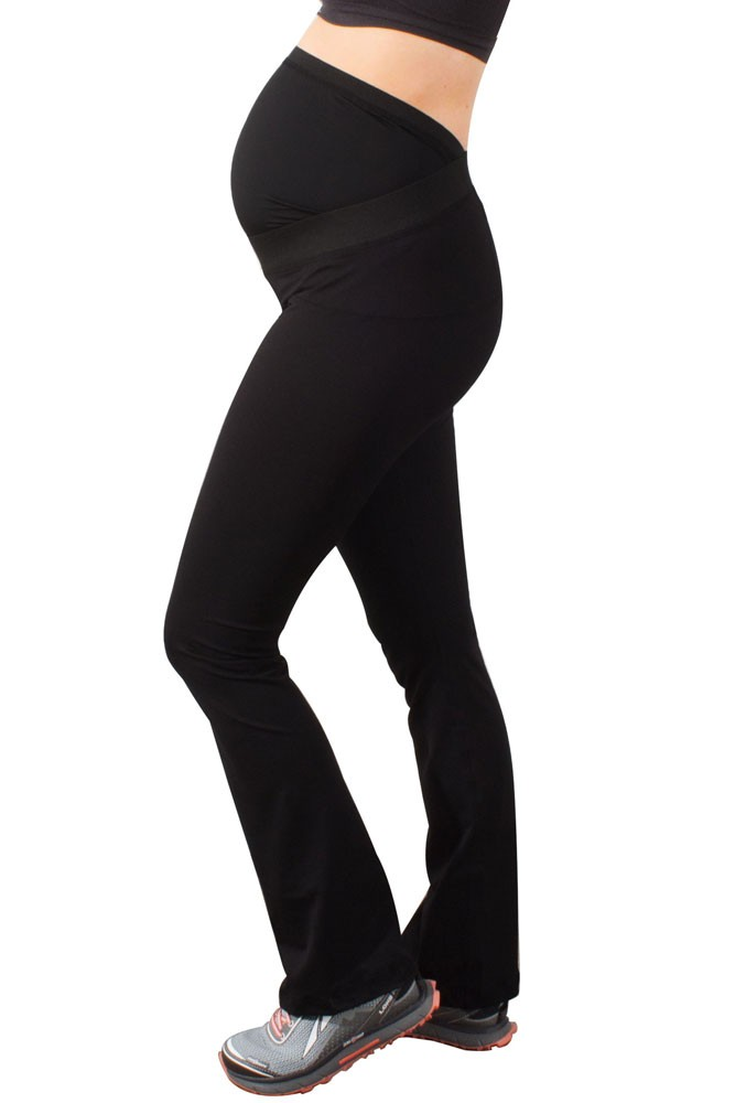 Ease Maternity Active Yoga Pant with Mumband Support (Black)