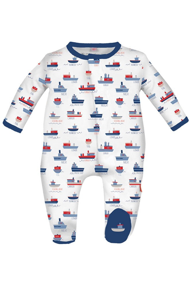 Magnificent Baby Magnetic Me™ Ahoy Sailor Baby Boy Footie (Smarty Sailor)