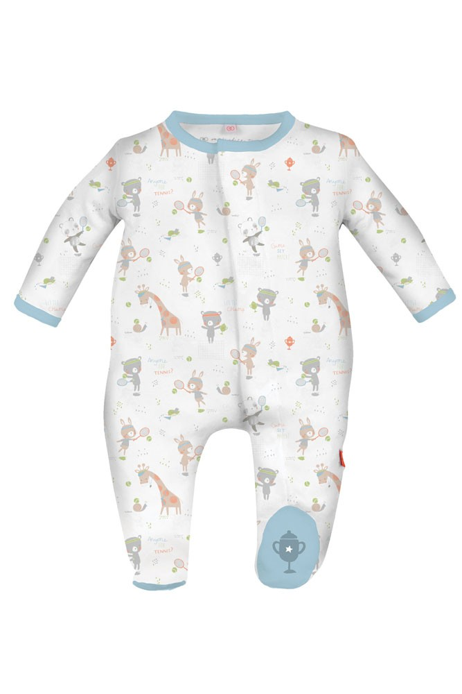 feef7049b Magnificent Baby Magnetic Me™ Baby Boy Tennis Club Footie in Blue Print