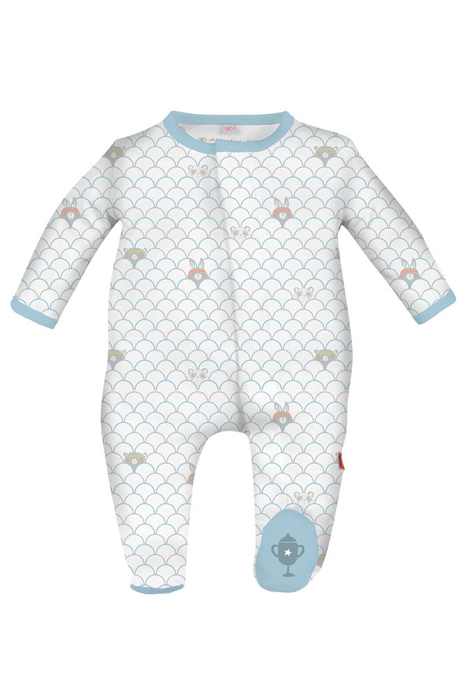 Magnificent Baby Magnetic Me™ Baby Boy Love All Footie (Blue Boy Print)