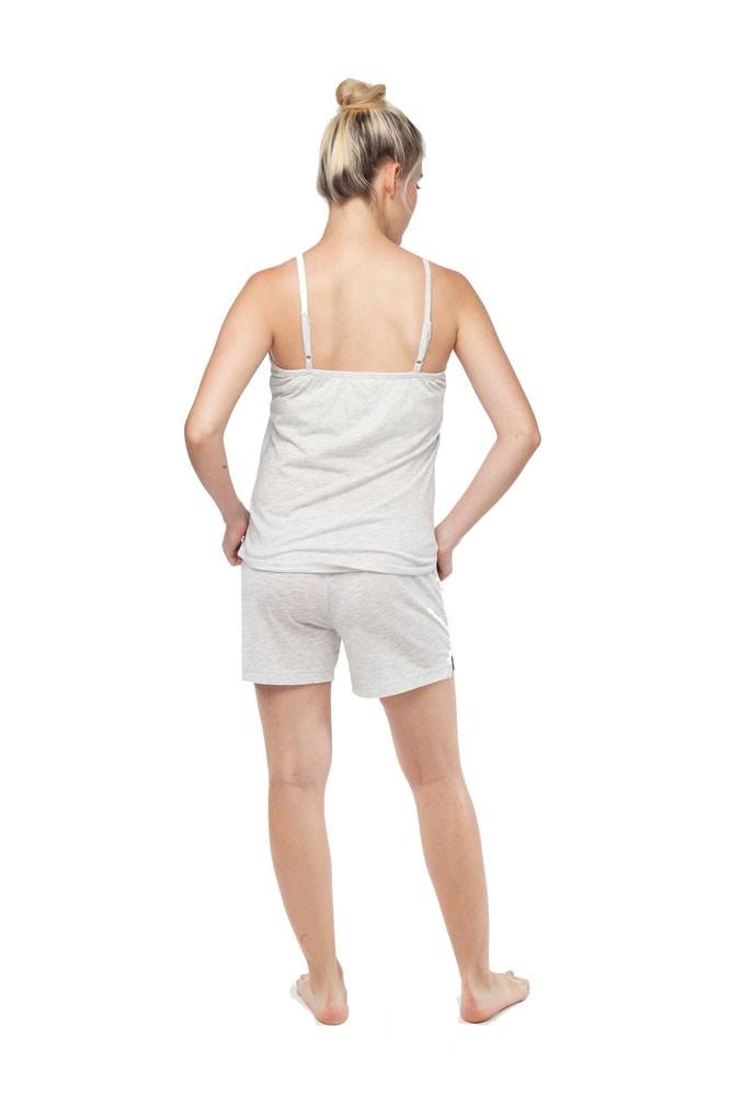 Belabumbum Womens Summer Maternity and Nursing Cami//Short Pajama Set