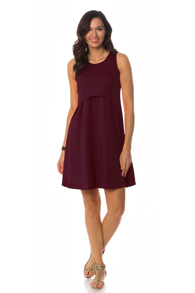 The June Maternity & Nursing Dress by Majamas (Zinfandel)