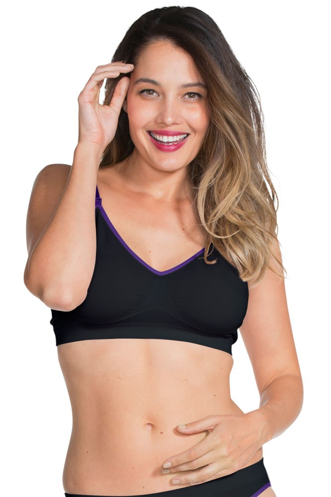 Flourish Seamless Nursing Bra by Charley M (Black)