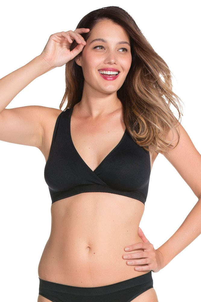 821a0f0d9d Serenity Moulded Seamless Sleep Bra by Charley M in Black