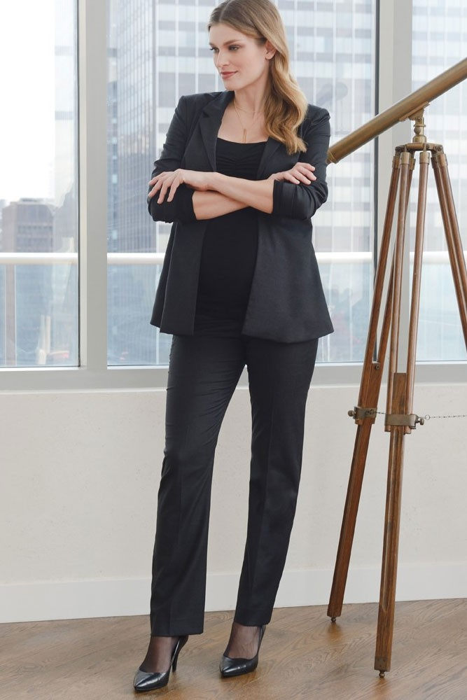 Seraphine Carol Wool Career Maternity Suit Set in Charcoal ...