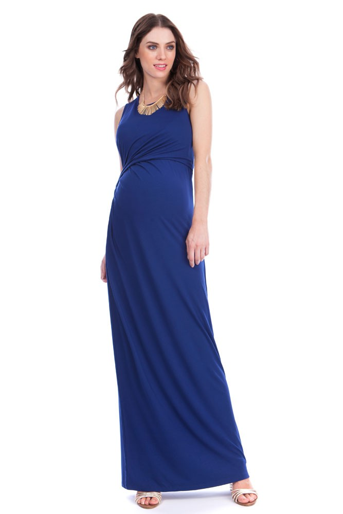5a74b88de4 Seraphine Lexington Maxi Maternity   Nursing Dress in Ink