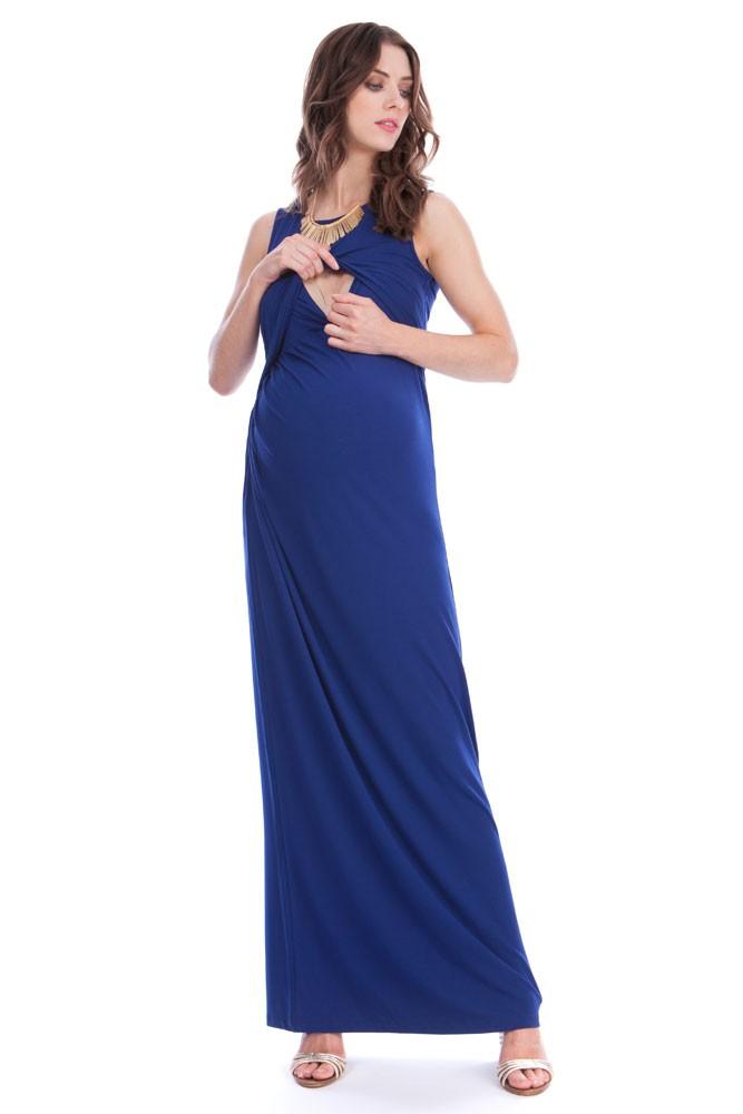 767c30b5ce5 Seraphine Lexington Maxi Maternity   Nursing Dress in Ink