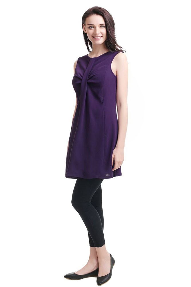 Ester Shift Maternity & Nursing Tunic (Plum)