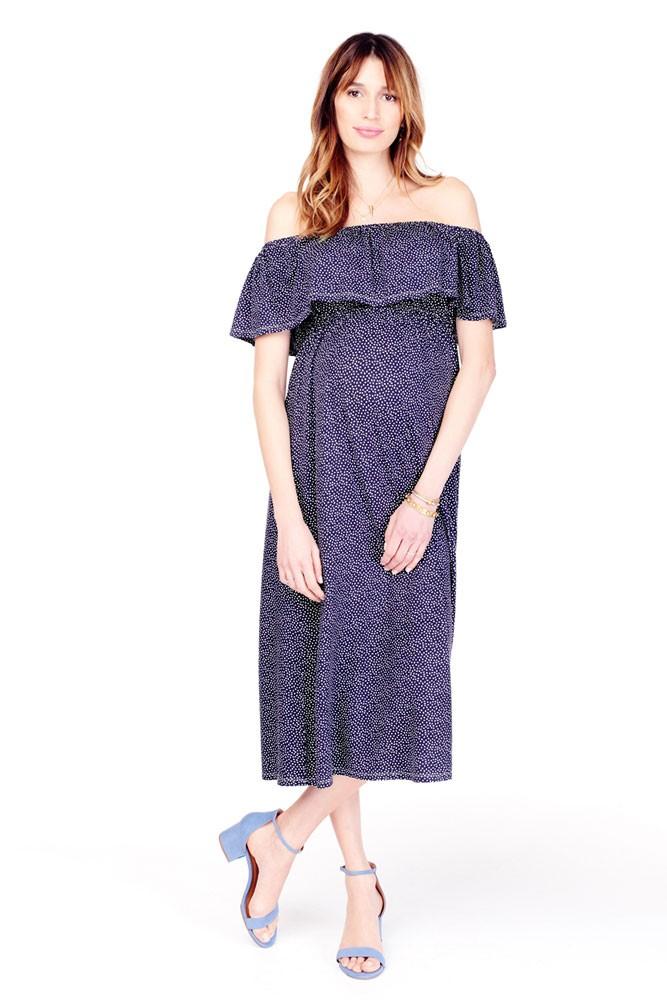 Ingrid & Isabel Off-the-Shoulder Midi Maternity Dress in ...