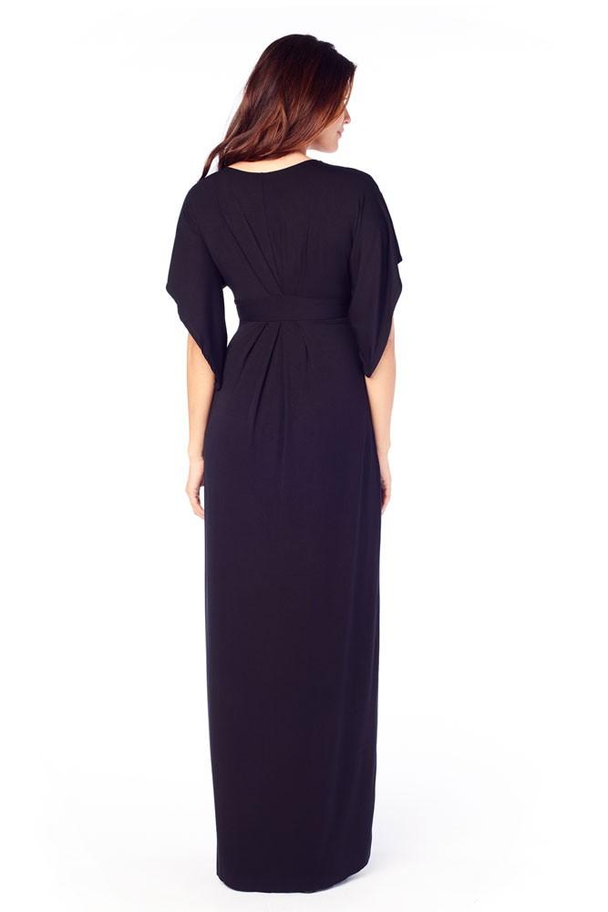 87f99e92083 Ingrid   Isabel Kimono Maxi Maternity Dress in Jet Black