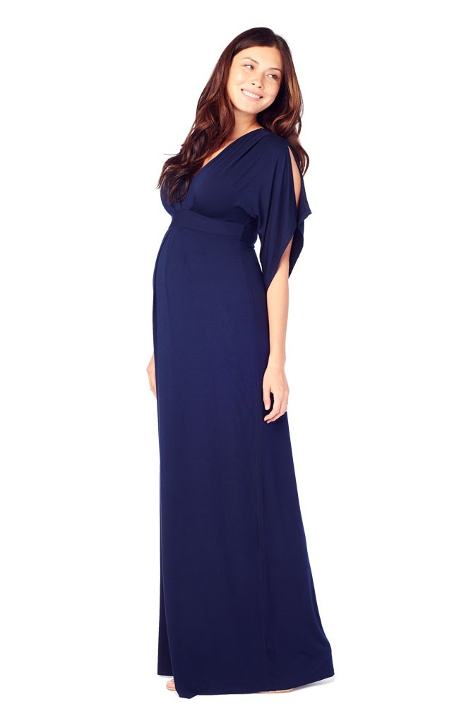 Ingrid & Isabel Kimono Maxi Maternity Dress (Navy)