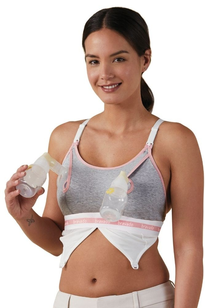 Bravado Designs Clip and Pump™ Hands-Free Nursing Bra Accessory (Dove Heather)