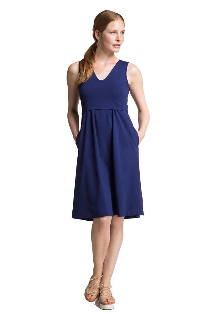 L Organic Pads >> Boob Design Tilda Organic Maternity & Nursing Dress in Cobalt