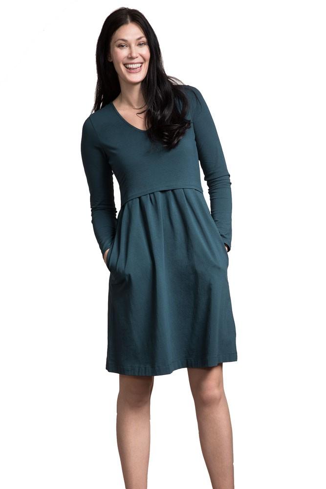3595f1ee45 Boob Design Lotta Organic Cotton Maternity   Nursing Dress in Sea Green