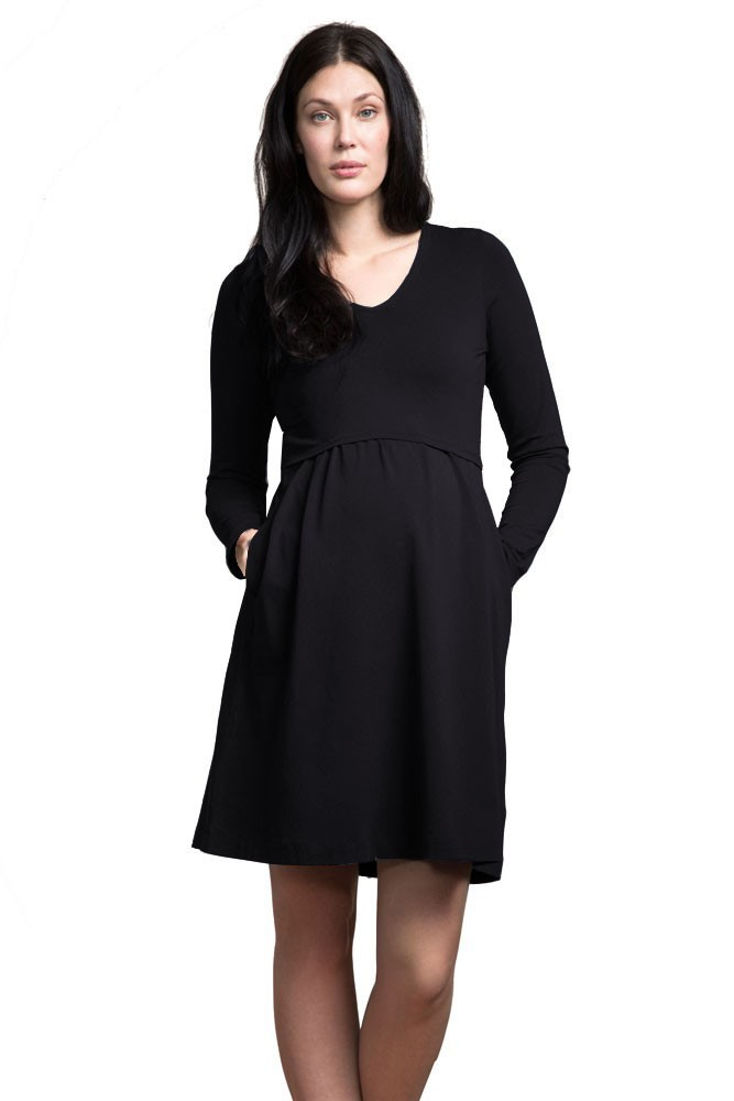 bc71f18dec Boob Design Lotta Organic Cotton Maternity   Nursing Dress in Black